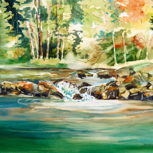 Summer-Stream-by-Kathleen-Berry-Bergeron