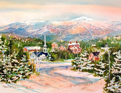 """Stowe Village"" by Kathleen Berry Bergeron"