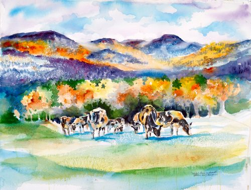 Colorful Cows of Vermont Print | Kathleen Berry Bergeron
