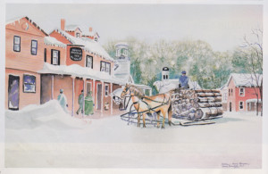 Painting of The Green Mountain Inn, Stowe, VT by Kathleen Berry Bergeron