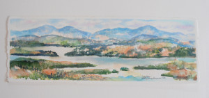 Mt Philo original watercolor by Kathleen Berry Bergeron