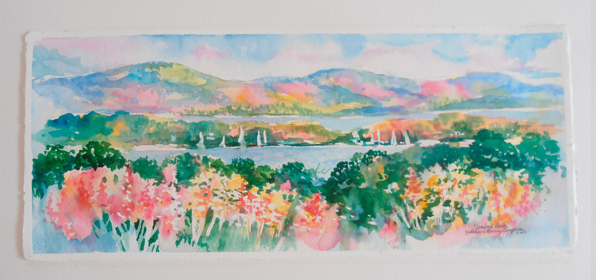 Overlook Park original watercolor by Kathleen Berry Bergeron