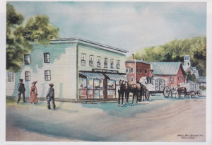 Painting of Shaw's General Store, Stowe, VT by Kathleen Berry Bergeron