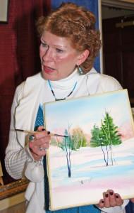 Kathy teaching a class