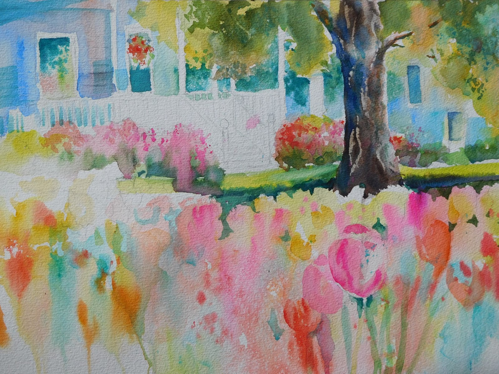 Plein Air Painting by Kathleen Berry Bergeron