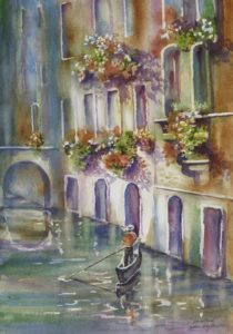 Venice Canal by Kathleen Berry Bergeron