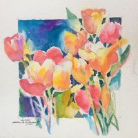 Tulips original watercolor by Kathleen Berry Bergeron