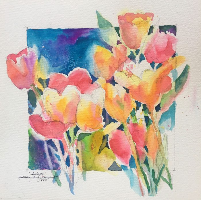 Tulips original watercolor by Kathleen Berry Bergeron
