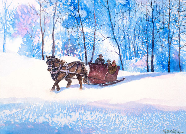 The Sleigh Ride by Kathleen Berry Bergeron