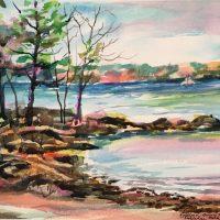 """Oakledge Park"" original watercolor by Kathleen Berry Bergeron"