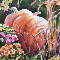"""Pumpkins"" original watercolor by Kathleen Berry Bergeron"