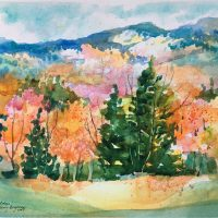 """Vermont Colors"" original watercolor by Kathleen Berry Bergeron"