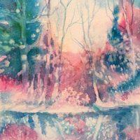 """Rivers Edge"" original watercolor by Kathleen Berry Bergeron"