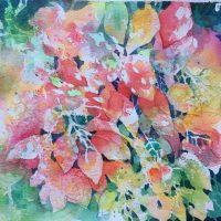 """Whispering Leaves"" original watercolor by Kathleen Berry Bergeron"