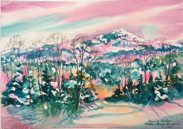 """Colors of Winter"" original watercolor by Kathleen Berry Bergeron"