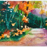 Fall Colors original watercolor by Kathleen Berry Bergeron