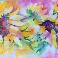 Sunny Days original watercolor by Kathleen Berry Bergeron