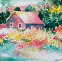 The Nursery original watercolor by Kathleen Berry Bergeron