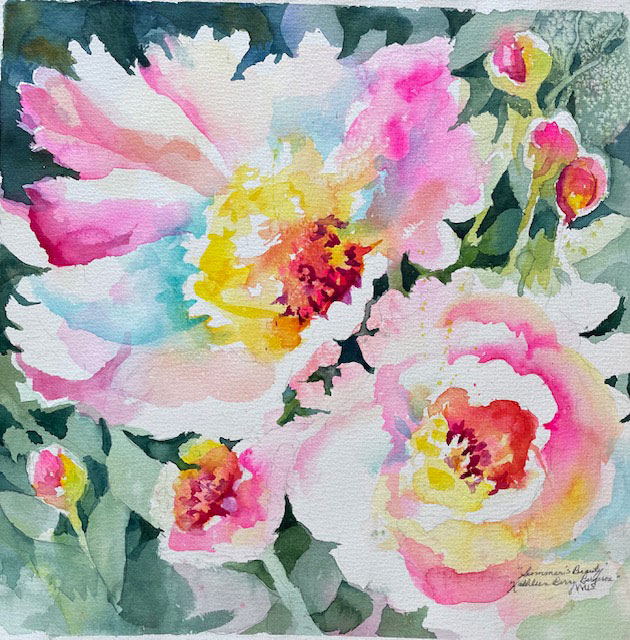 """Summer Beauty"" original watercolor by Kathleen Berry Bergeron"
